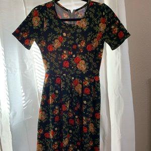 Floral LuLaRoe Amelia Dress